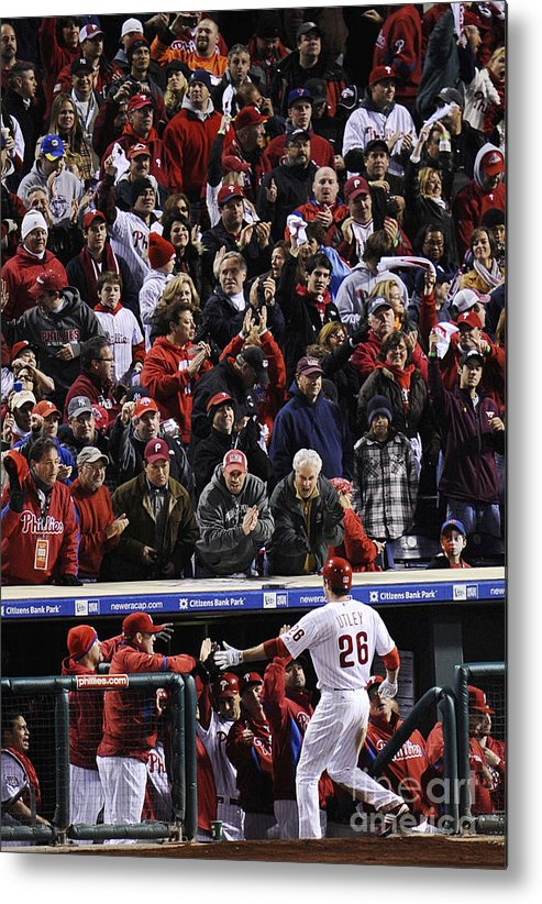 People Metal Print featuring the photograph Chase Utley by Jeff Zelevansky
