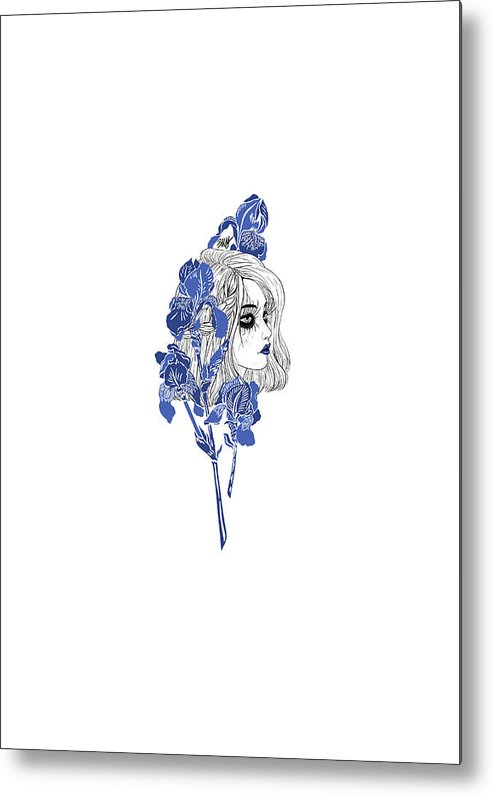 Digital Art Metal Print featuring the digital art China girl by Elly Provolo