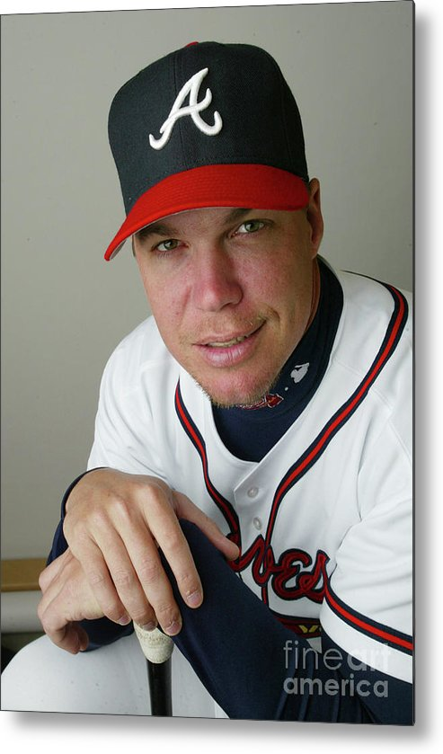 Media Day Metal Print featuring the photograph Chipper Jones by Rick Stewart