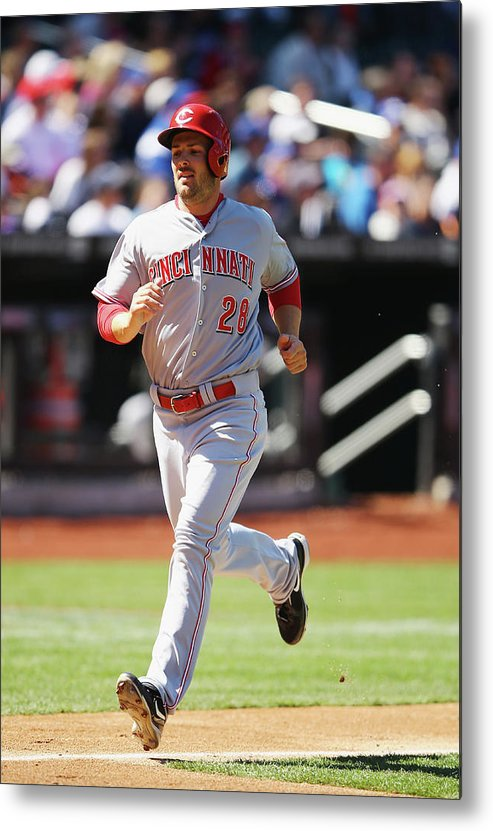 American League Baseball Metal Print featuring the photograph Chris Heisey by Al Bello