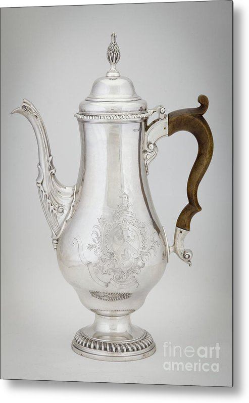 Revere Metal Print featuring the photograph Coffeepot, 1773 Silver by American School