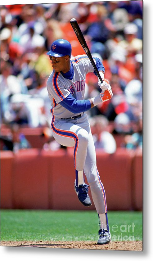 Sports Bat Metal Print featuring the photograph Darryl Strawberry by Michael Zagaris