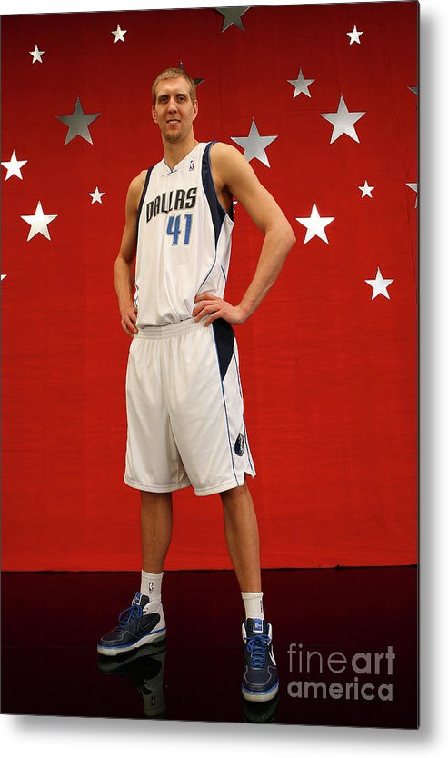 Nba Pro Basketball Metal Print featuring the photograph Dirk Nowitzki by Jesse D. Garrabrant