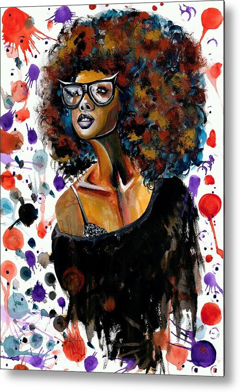 Sexy Metal Print featuring the painting Dope Chic by Artist RiA