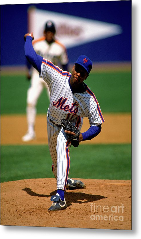 Dwight Gooden Metal Print featuring the photograph Dwight Gooden by Mlb Photos
