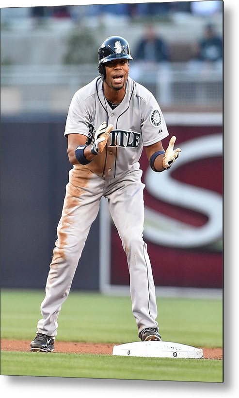 American League Baseball Metal Print featuring the photograph Endy Chavez by Denis Poroy