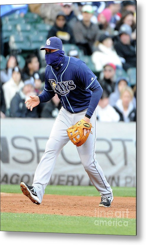 Balaclava Metal Print featuring the photograph Evan Longoria by David Banks