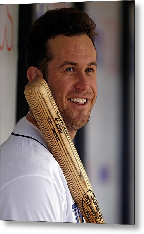 American League Baseball Metal Print featuring the photograph Evan Longoria by J. Meric