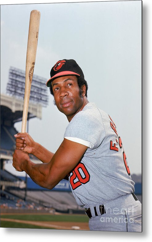 American League Baseball Metal Print featuring the photograph Frank Robinson by Louis Requena