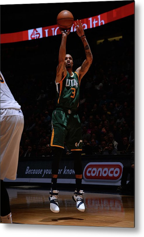 Nba Pro Basketball Metal Print featuring the photograph George Hill by Bart Young