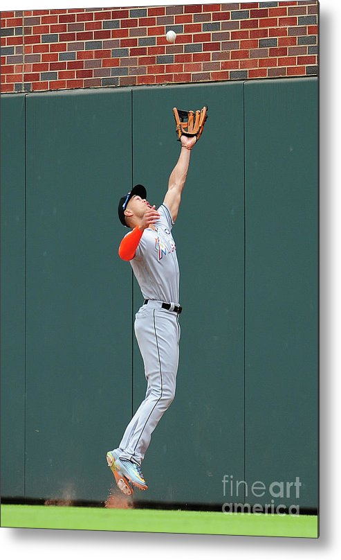 Atlanta Metal Print featuring the photograph Giancarlo Stanton by Scott Cunningham