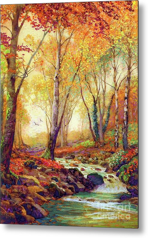 Landscape Metal Print featuring the painting Water of Life by Jane Small