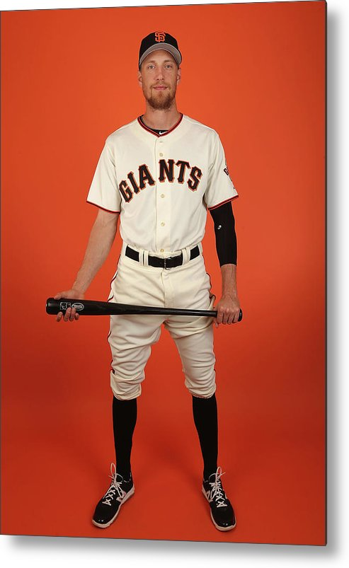 Media Day Metal Print featuring the photograph Hunter Pence by Christian Petersen
