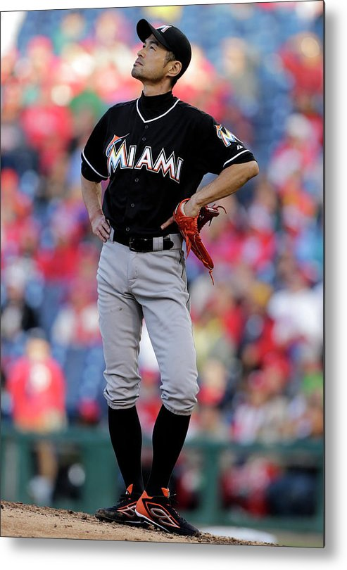 People Metal Print featuring the photograph Ichiro Suzuki by Adam Hunger