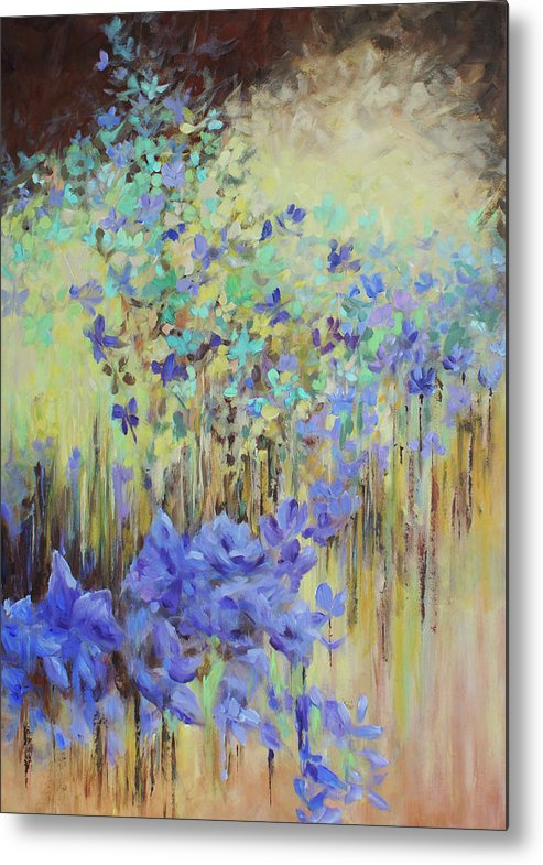 Iris Metal Print featuring the painting In Flight by Joanne Smoley