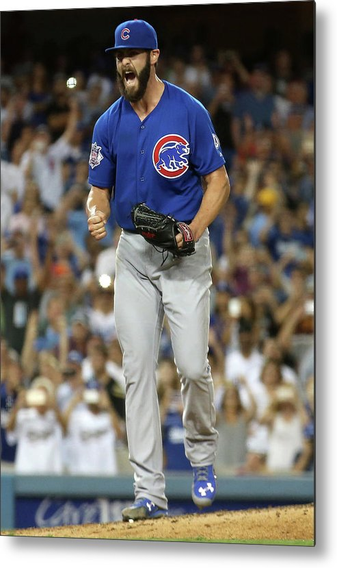 People Metal Print featuring the photograph Jake Arrieta by Stephen Dunn