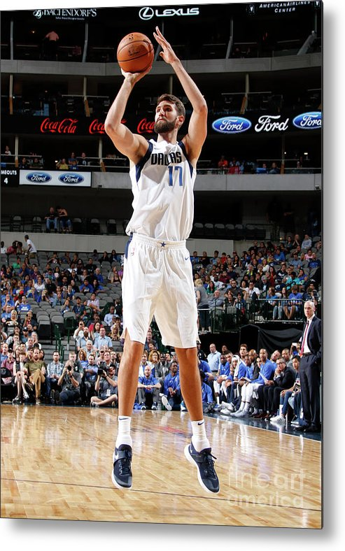 Nba Pro Basketball Metal Print featuring the photograph Jeff Withey by Danny Bollinger
