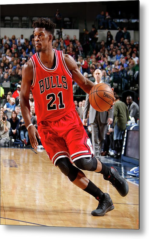 Nba Pro Basketball Metal Print featuring the photograph Jimmy Butler by Danny Bollinger