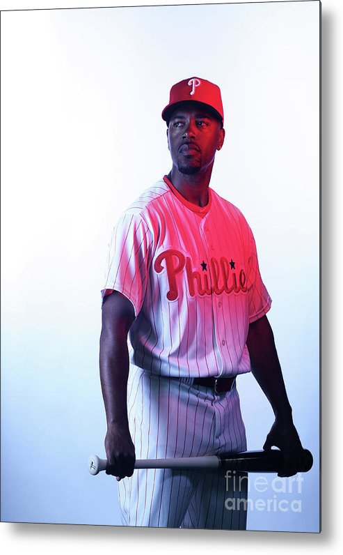 Media Day Metal Print featuring the photograph Jimmy Rollins by Nick Laham