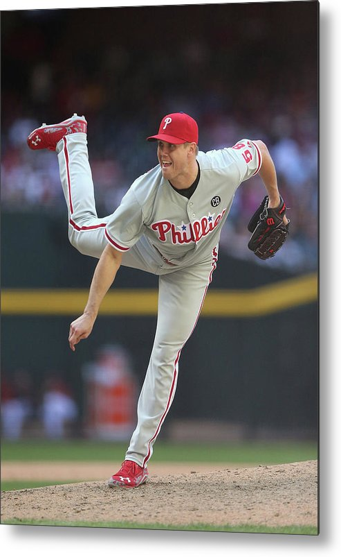 Relief Pitcher Metal Print featuring the photograph Jonathan Papelbon by Christian Petersen