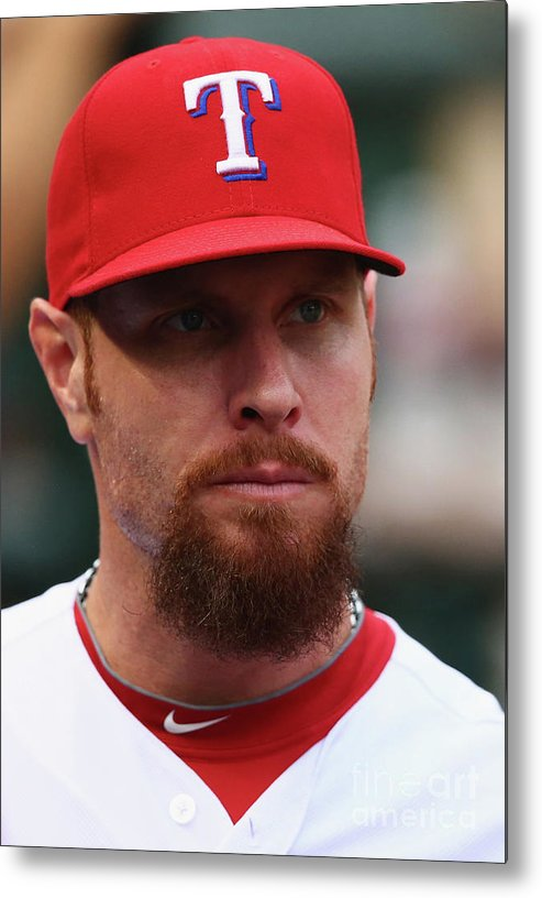 People Metal Print featuring the photograph Josh Hamilton by Ronald Martinez