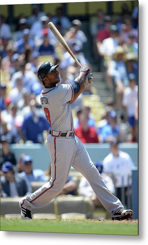 American League Baseball Metal Print featuring the photograph Justin Upton by Harry How