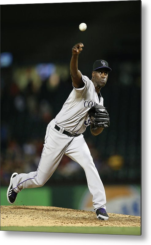 Ninth Inning Metal Print featuring the photograph Latroy Hawkins by Rick Yeatts