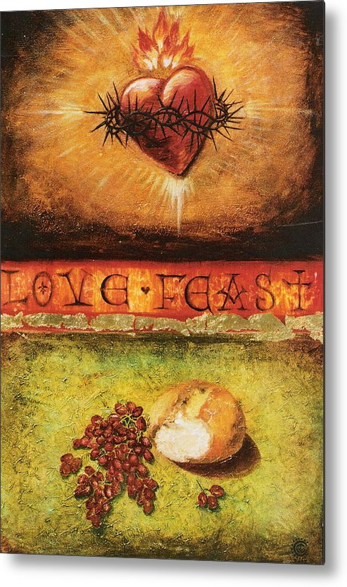 Love Feast Metal Print featuring the painting Love Feast by Teresa Carter