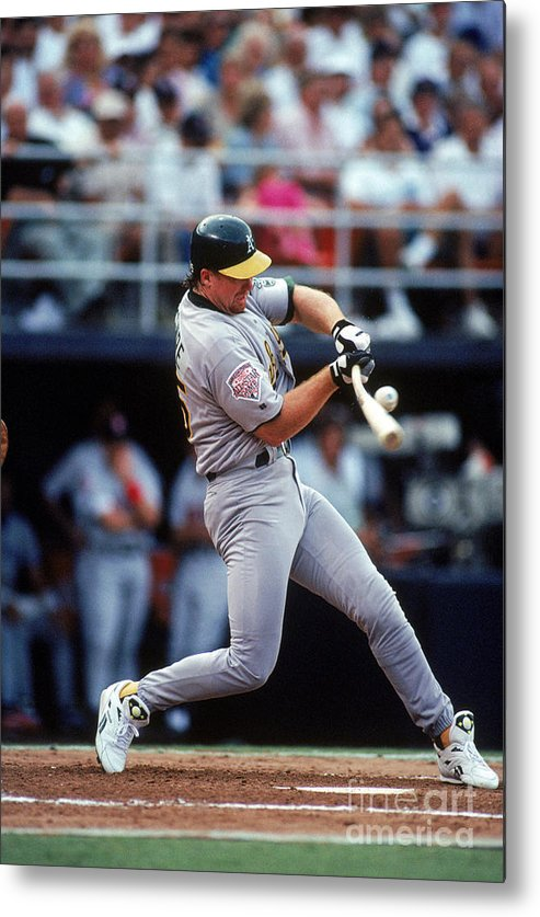 All Star Game Metal Print featuring the photograph Mark Mcgwire by Ron Vesely