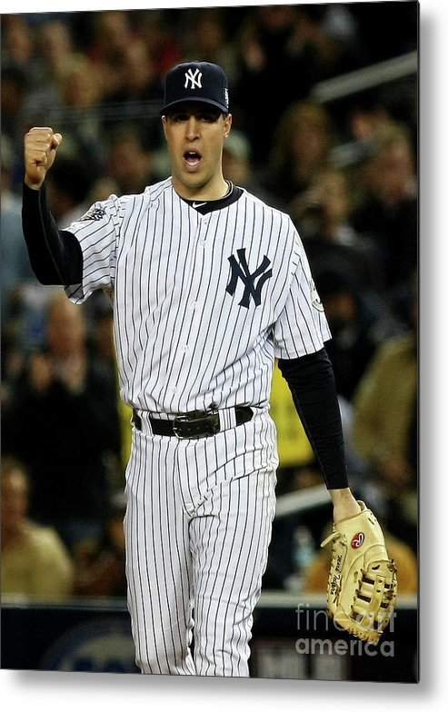 Game Two Metal Print featuring the photograph Mark Teixeira by Chris Mcgrath