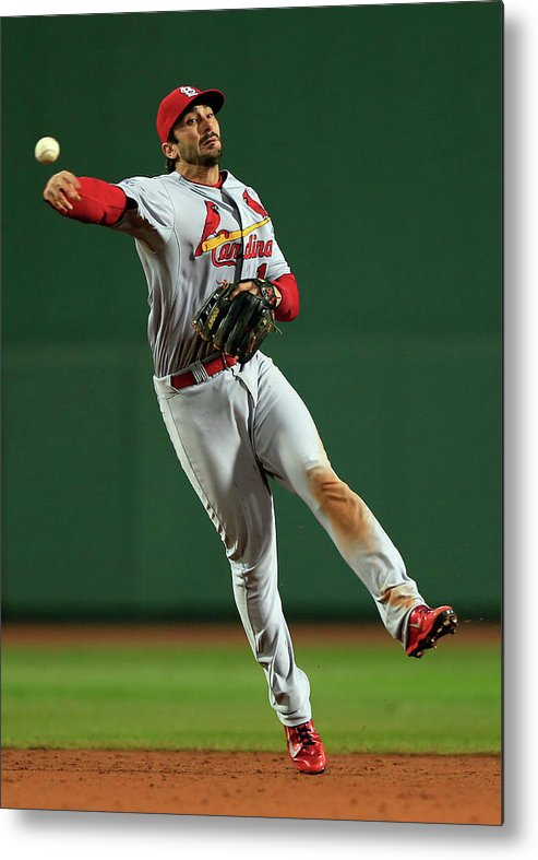 St. Louis Cardinals Metal Print featuring the photograph Matt Carpenter by Jamie Squire