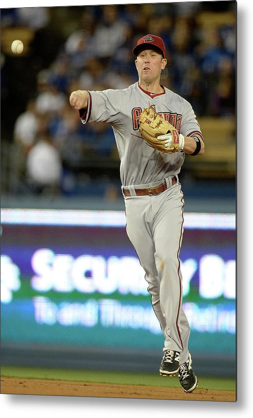 Second Inning Metal Print featuring the photograph Matt Kemp and Aaron Hill by Harry How