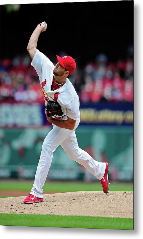 St. Louis Cardinals Metal Print featuring the photograph Michael Wacha by Jeff Curry