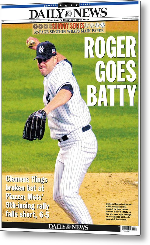 American League Baseball Metal Print featuring the photograph Mike York by New York Daily News Archive
