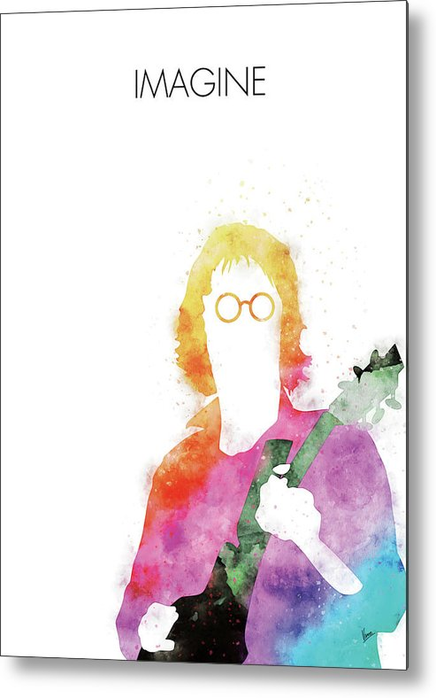 John Metal Print featuring the digital art No013 MY John lennon Watercolor Music poster by Chungkong Art