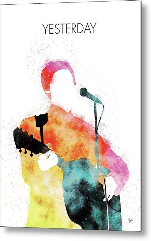 Paul Metal Print featuring the digital art No076 MY PAUL MCCARTNEY Watercolor Music poster by Chungkong Art