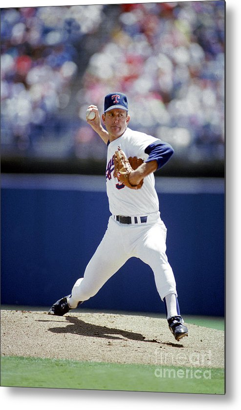 1980-1989 Metal Print featuring the photograph Nolan Ryan by Louis Deluca