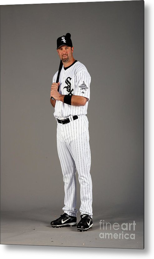 Media Day Metal Print featuring the photograph Paul Konerko by Otto Greule Jr