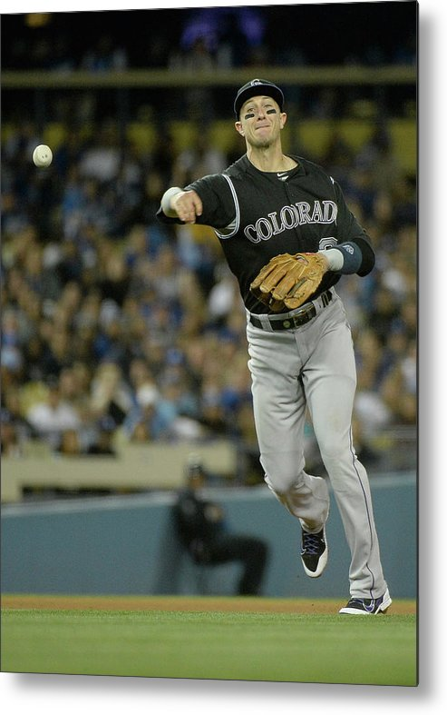California Metal Print featuring the photograph Paul Maholm and Troy Tulowitzki by Harry How