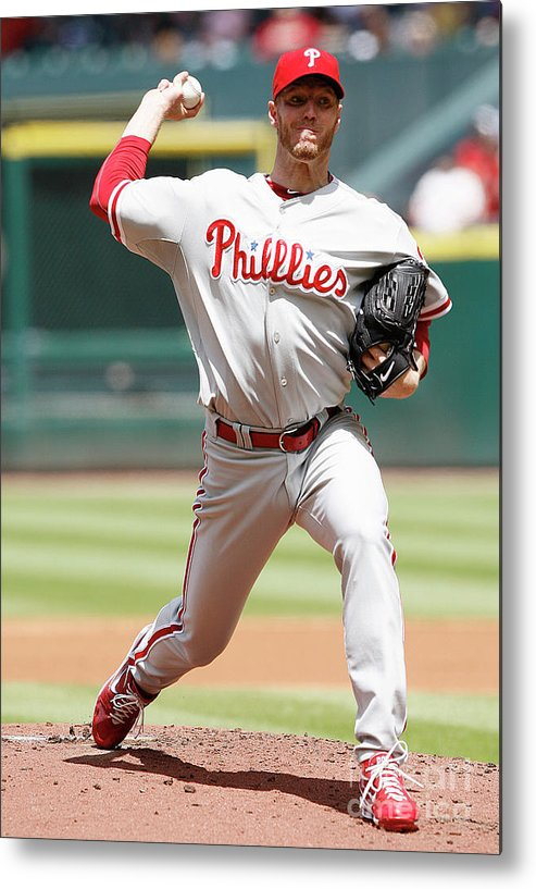 Minute Maid Park Metal Print featuring the photograph Roy Halladay by Bob Levey