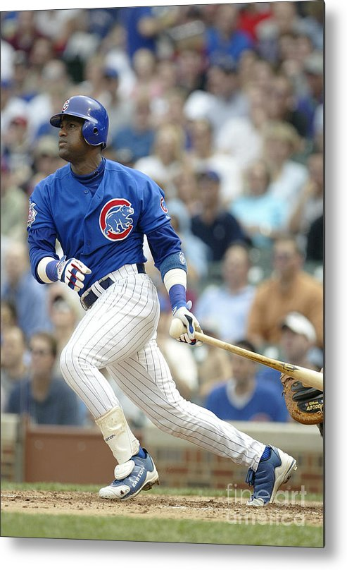Motion Metal Print featuring the photograph Sammy Sosa by Ron Vesely
