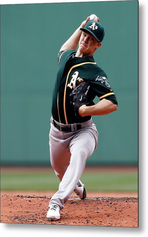 American League Baseball Metal Print featuring the photograph Sonny Gray by Jim Rogash