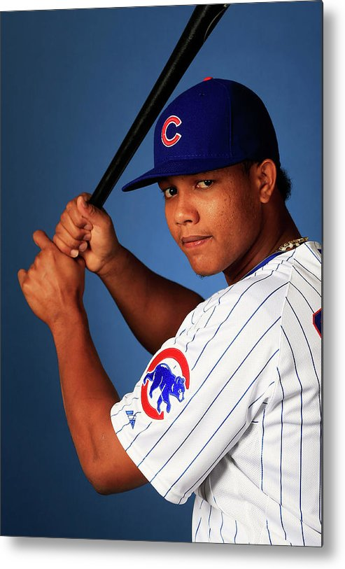 Media Day Metal Print featuring the photograph Starlin Castro by Jamie Squire