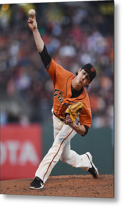 San Francisco Metal Print featuring the photograph Tim Lincecum by Thearon W. Henderson