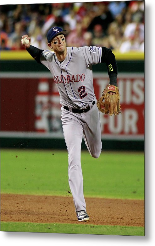 Second Inning Metal Print featuring the photograph Troy Tulowitzki by Ralph Freso