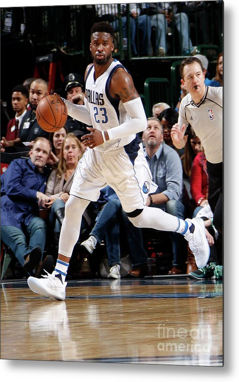 Nba Pro Basketball Metal Print featuring the photograph Wesley Matthews by Danny Bollinger