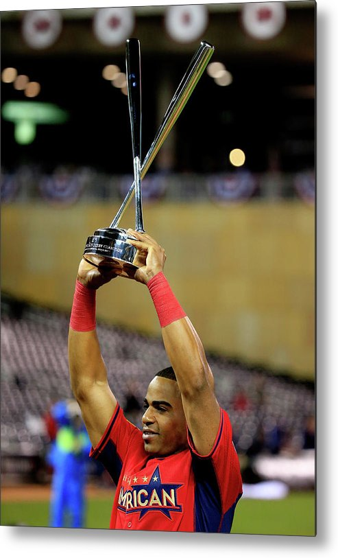 Yoenis Cespedes Metal Print featuring the photograph Yoenis Cespedes by Rob Carr