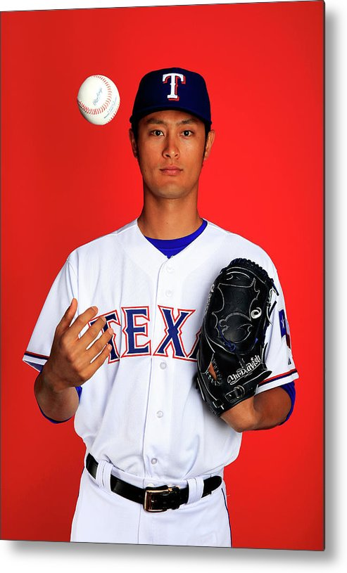 Media Day Metal Print featuring the photograph Yu Darvish by Jamie Squire