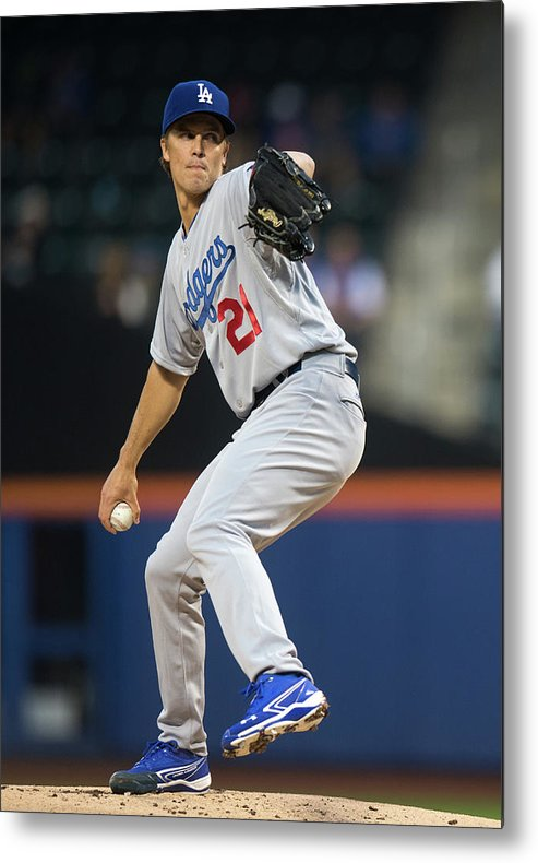 American League Baseball Metal Print featuring the photograph Zack Greinke by Ron Antonelli