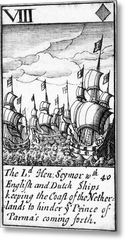 1588 Metal Print featuring the photograph Spanish Armada, 1588 by Granger